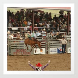 Red Lodge Rodeo Art Print