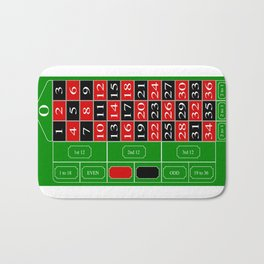 Roulette Table Bath Mat