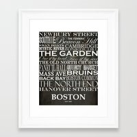 boston Framed Art Prints featuring Boston by haulonthebowline