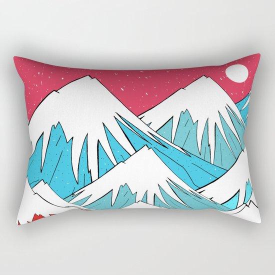Red Sky Mounts Rectangular Pillow