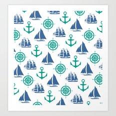 Nautical Pattern Art Print