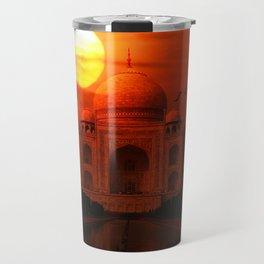 Taj Mahal Sunset Travel Mug