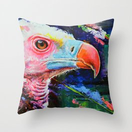Vulture Colors Throw Pillow
