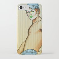 lou reed iPhone & iPod Cases featuring Lou by NathanRapportArt