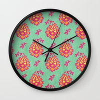 pastel Wall Clocks featuring Pastel by Arcturus