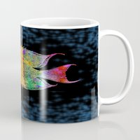 fish Mugs featuring  Fish by Vitta