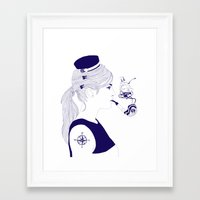 nautical Framed Art Prints featuring Nautical by Nathalie Otter