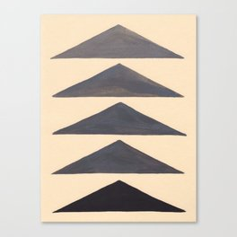 Gray Geometric Triangle Pattern With Black Accent Canvas Print