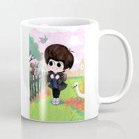 shinee Mugs featuring SHINee Minho & London Squirrel by sophillustration