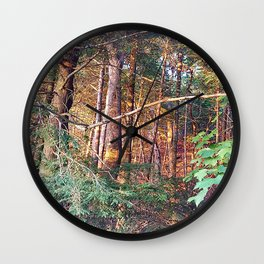 Camouflage fortress Wall Clock