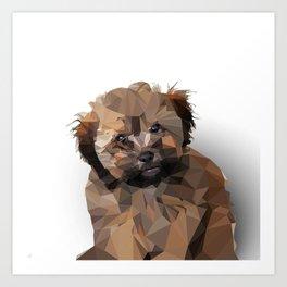 Cocoa, the puppy Art Print