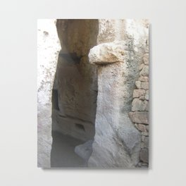 Colour Travel Photograph Rock and a hard place #2 Metal Print