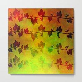 Harvest Time Vines Design Metal Print