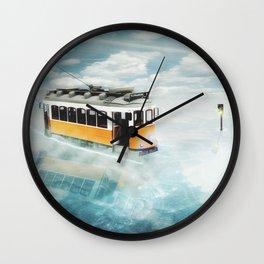 Tram trip Wall Clock