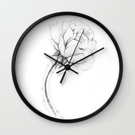 Delicate Rose Wall Clock