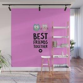Owls Best friends Heart T-Shirt Dlse3 Wall Mural