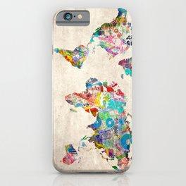 world map music art iPhone Case