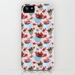 Cute Succulent Pot Plant Pattern iPhone Case