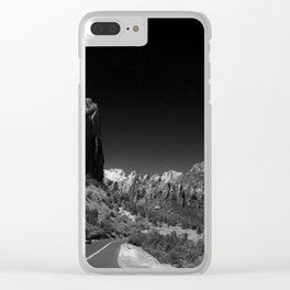 Zion Park View in B&W Clear iPhone Case