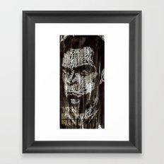 Nick Cave, a portrait. Framed Art Print