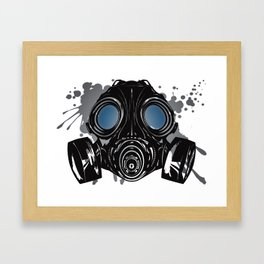 GAS_MASK_PROTECTION Framed Art Print