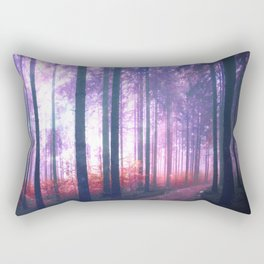 Woods in the outer space Rectangular Pillow