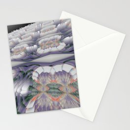 "Random 3D No. 67 ""Endless pavement fractal"" Stationery Cards"
