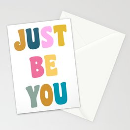 Colorful Just Be You Lettering Stationery Cards
