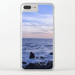 Salsedine al tramonto. Clear iPhone Case