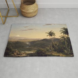 Cotopaxi by Frederic Edwin Church Rug