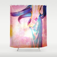 body Shower Curtains featuring Body by haroulita