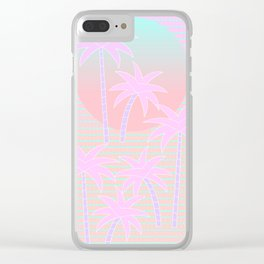 Hello Miami Sunrise Clear iPhone Case