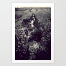 Began in darkness Art Print
