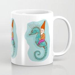 fairytale dwarf riding a seahorse Coffee Mug