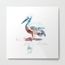 Pelican / Abstract animal portrait. Metal Print