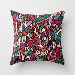 Jammin' Good (Berry) Throw Pillow