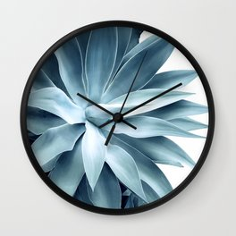 Bursting into life - teal Wall Clock
