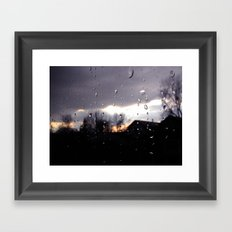 just like raindrops Framed Art Print