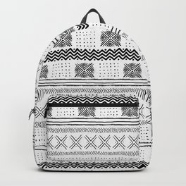 Mud Cloth Geometric Stripe Backpack