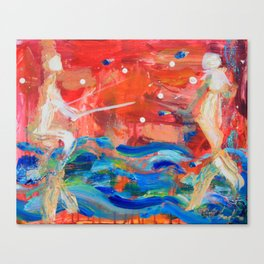 Relationship Mermaids Canvas Print