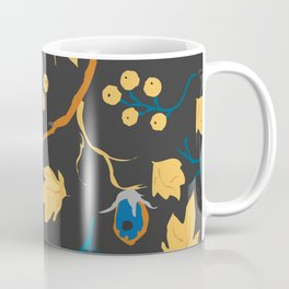 Red berry, Christmas Brier Spray Pattern. Hand drawn, whimsical, traditional style Coffee Mug