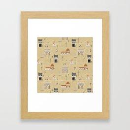 Florence Map Print Illustration Framed Art Print