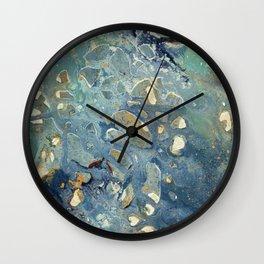 Intergalactic Fantasy - Mixed Media Painting - Abstract Art Wall Clock