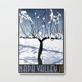Winter in the Vineyard - Poster Metal Print