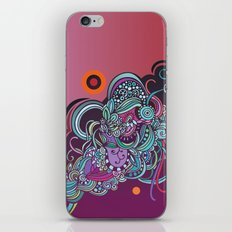 Detailed diagonal tangle, pink and purple iPhone & iPod Skin
