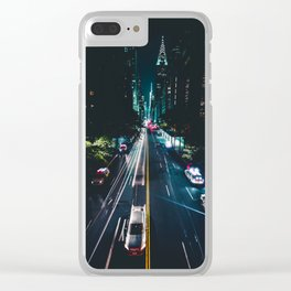 New York City Night Life (Color) Clear iPhone Case