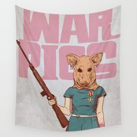 pigs Wall Tapestries featuring War Pigs by FlushDelay