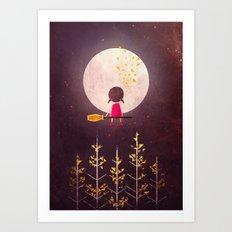 A Little Night Wanderer Art Print