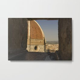 looking at the Duomo Firenze italy Metal Print