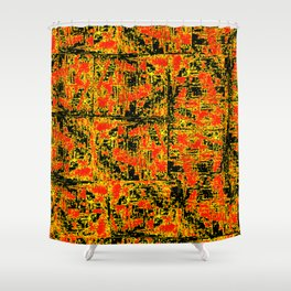 Golden Red Shower Curtain